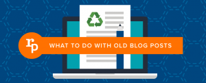 upgrade old blog post, infographics of old blog post