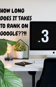 Combien de temps il faut pour classer sur Google