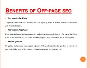 Benefits of Off Page in SEO