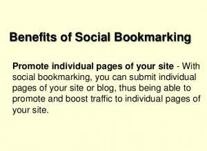 Benefits of Social Bookmarking