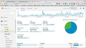 traffic measurement using google analytics