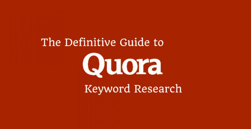 quora for keyword research and content marketing