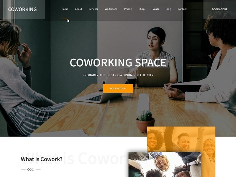 website of a co-working space